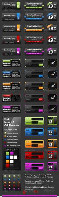 GraphicRiver - Slick UI Elelments - Web Design Interface Elements