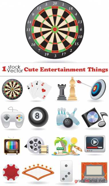 Cute Entertainment Things Vector