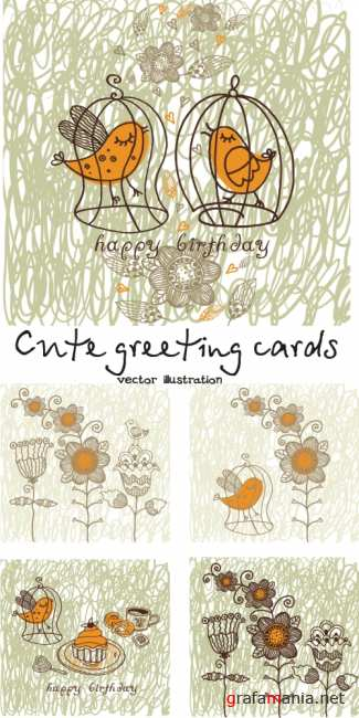 Сute greeting cards