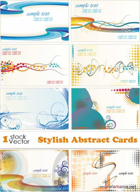 Stylish Abstract Cards Vector