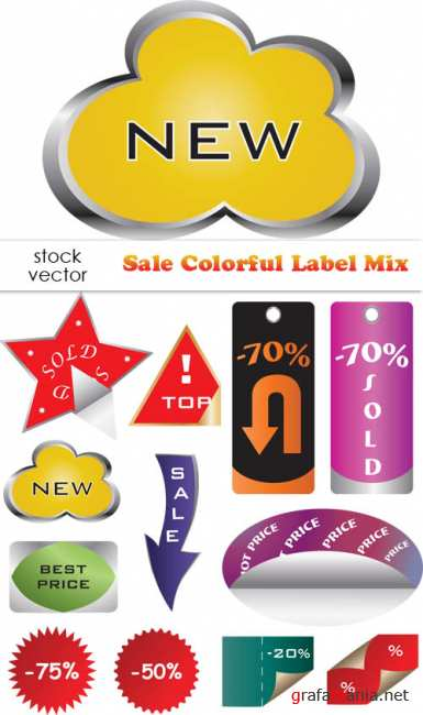 ��������� ������� - Sale Colorful Label Mix