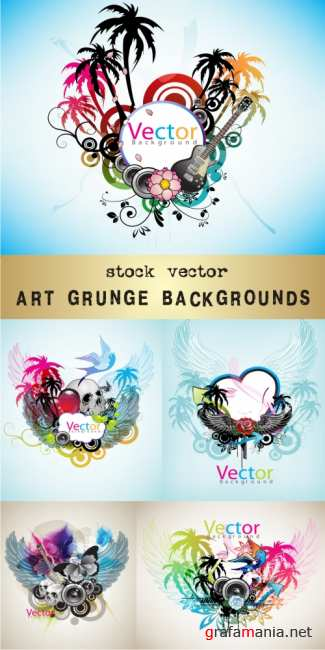 Art Grunge backgrounds