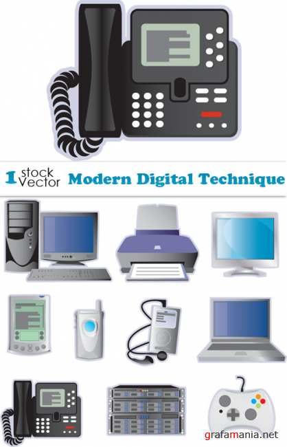 Modern Digital Technique Vector