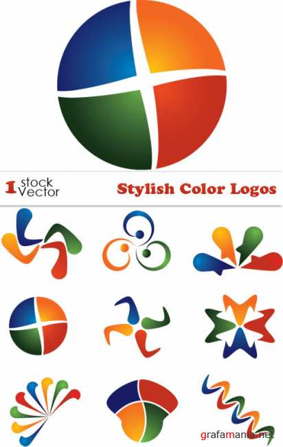Stylish Color Logos Vector