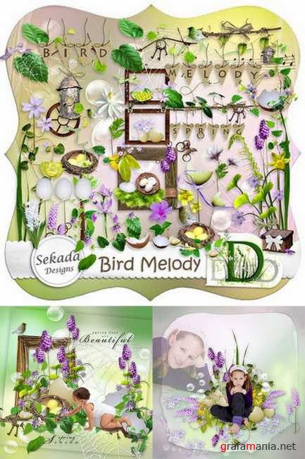 Scrap kit   Bird Melody
