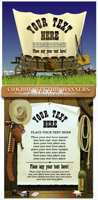 ������� � ������ � �������  Vestern and cowpuncher in vector