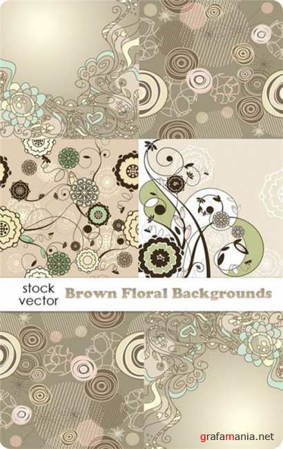 ��������� ������� - Brown Floral Backgrounds