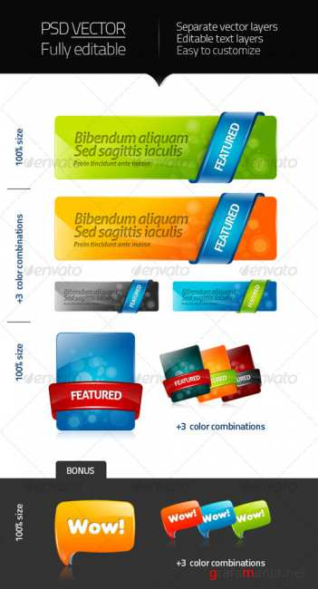 GraphicRiver  - Seextwood - webelements 2