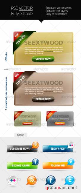 GraphicRiver  - Seextwood - webelements 5