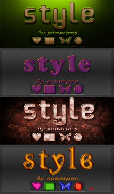 Set of the varied styles - 13