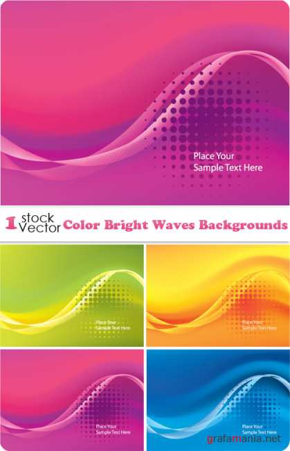 Color Bright Waves Backgrounds Vector