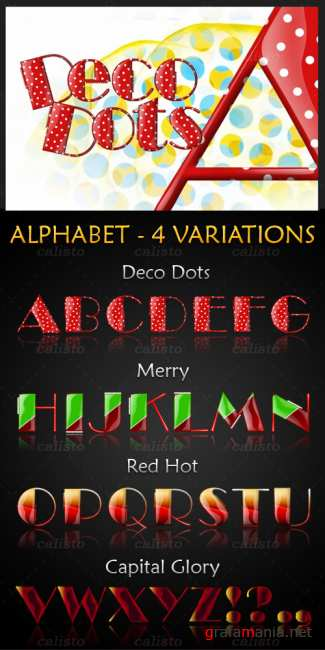 Алфавит - Alphabet Deco Dots