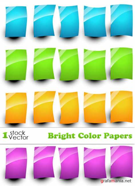 Bright Color Papers Vector