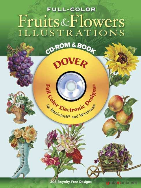 Клипарты Dover Fruits and Flowers.
