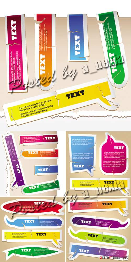 Paper Bookmarks & Speech Bubbles Vector