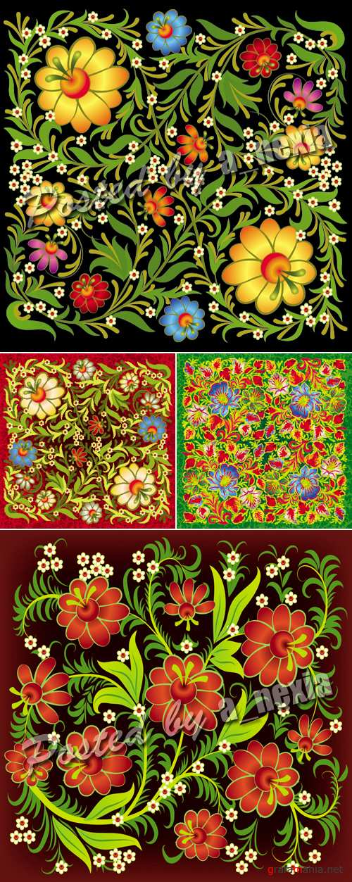 Floral Ornament Backgrounds Vector 2