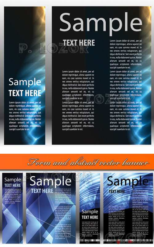 Form and abstract vector banner