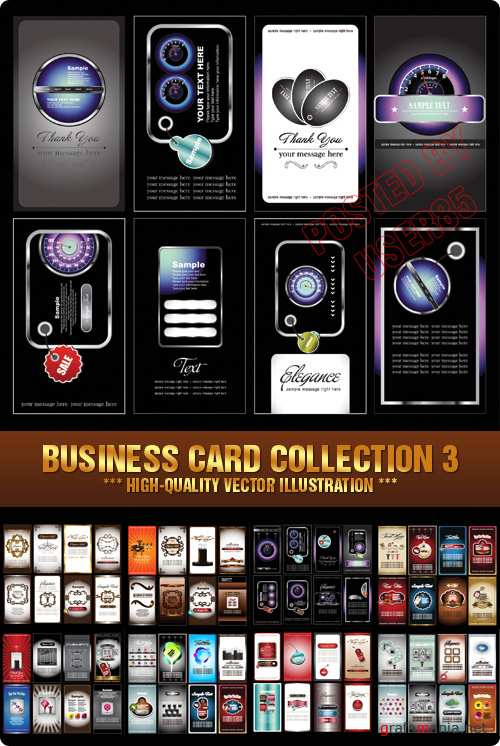 Stock Vector - Business Card Collection 3