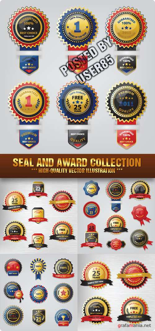 Stock Vector - Seal and Award Collection
