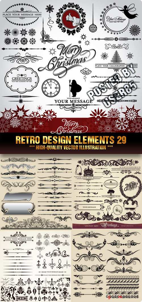Stock Vector - Retro Design Elements 29