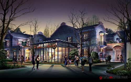 shopping center - PSD background