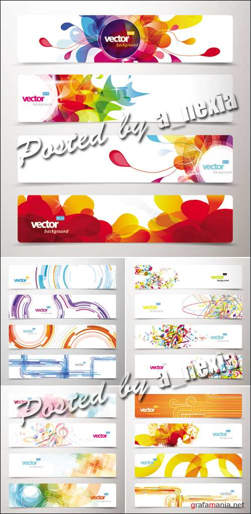 Abstract Color Banners Vector 4