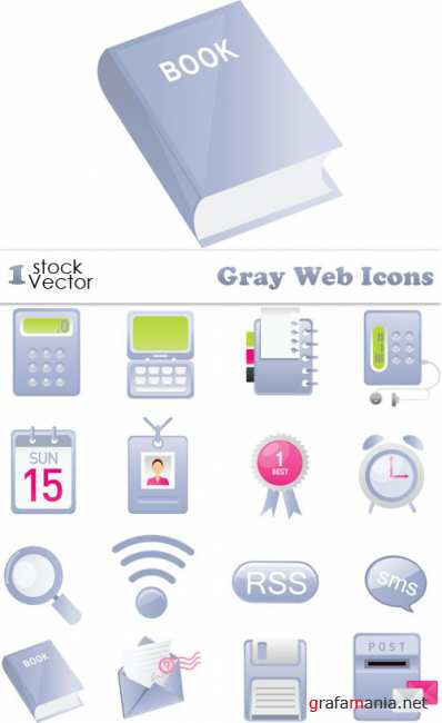 Gray Web Icons Vector