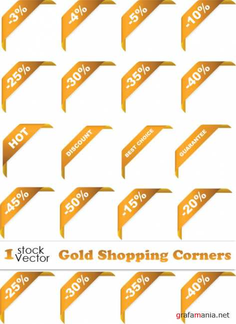 Gold Shopping Corners Vector