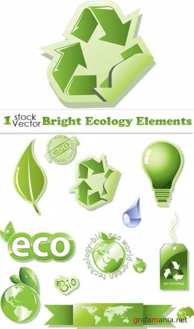 Bright Ecology Elements Vector