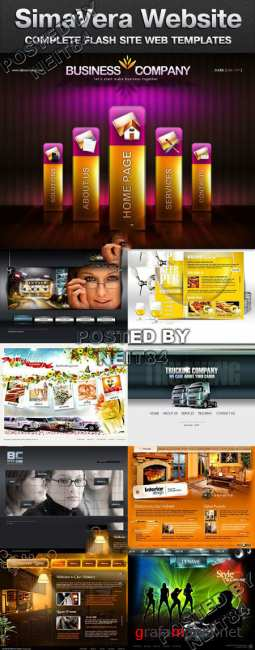 16 Flash Website Templates SimaVera Bundle