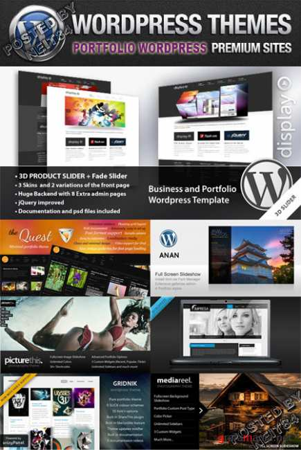 Portfolio Premium Wordpress ThemeForest Themes