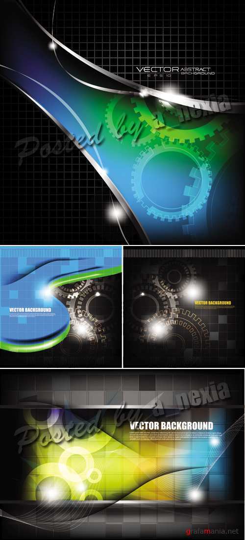 Dark Abstract Backgrounds Vector 2
