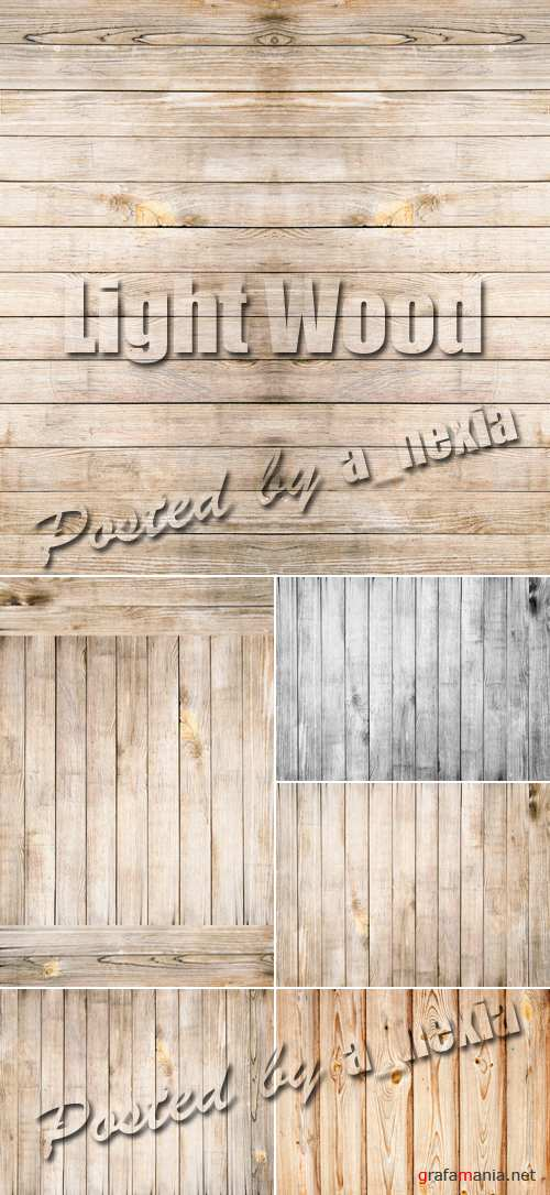Stock Photo - Light Wood Backgrounds