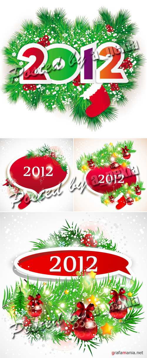 New Year 2012 Banners Vector