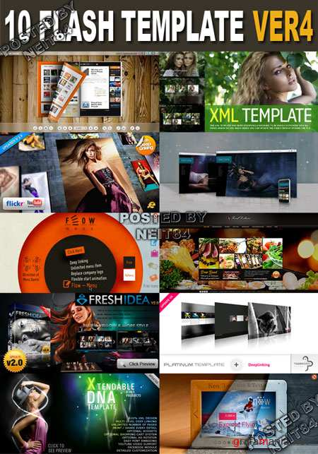 10 Flash Template Activeden XML V4