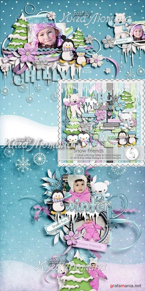 Scrap kit Snow Friends