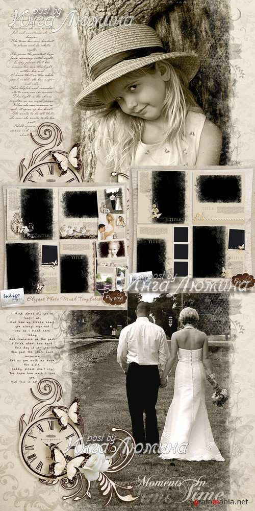 Scrap kit  Elegant Photomask Templates