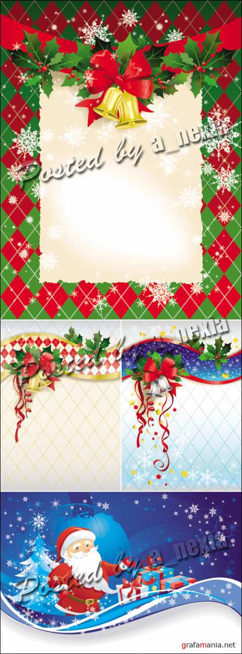 Christmas and New Year Vector 4