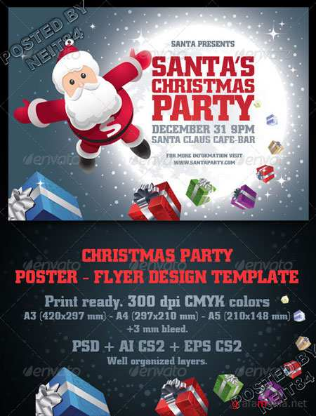Santa's Christmas Party Poster & Flyer Set 720576 Graphicriver