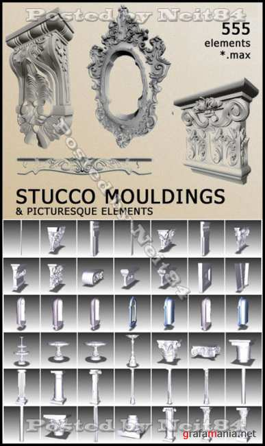 Decorative Items Stucco Mouldinds 3D Models