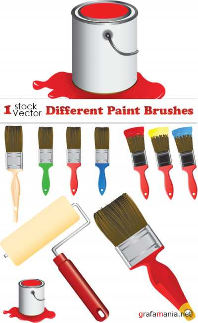 Different Paint Brushes Vector