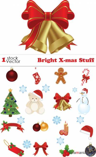 Bright X-mas Stuff Vector