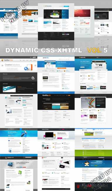20 Dynamic CSS XHTML Templates Website Vol5