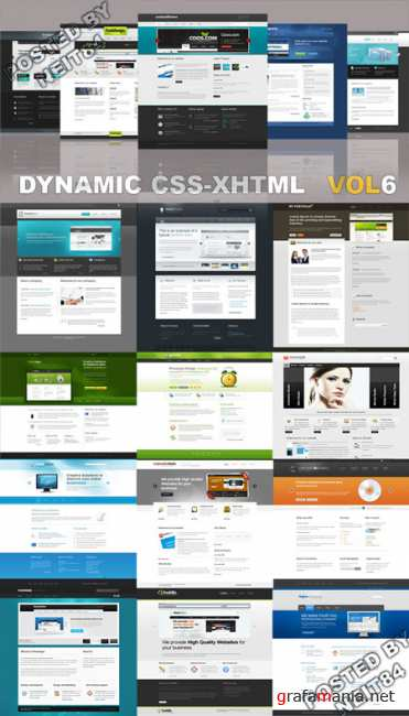 20 Dynamic CSS XHTML Templates Website Vol6