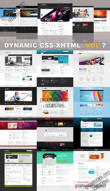 20 Dynamic CSS XHTML Templates Website Vol7