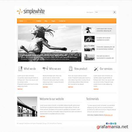 Dynamic CSS Templates Web Blog Corporate Simplewhite