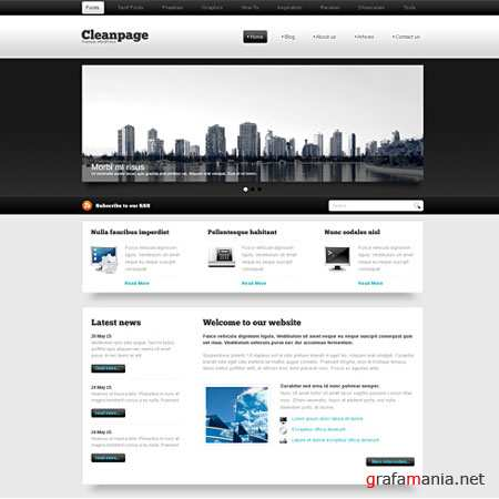 Dynamic CSS Templates Web Blog Corporate Blackwhite