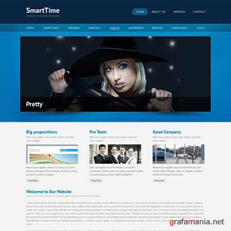 Dynamic CSS Templates Web Blog Corporate Smarttime