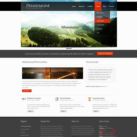 Dynamic CSS Templates Web Blog Corporate Framerate