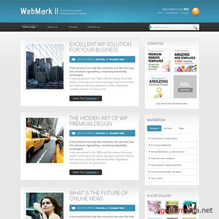 Dynamic CSS Templates Web Blog Corporate Webmark